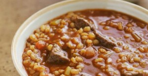 The meat and potatoes stew known as cholent that many Jews eat on the Sabbath.
