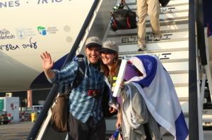 New immigrants to Israel, making aliyah.