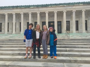 These are my four wonderful children just yesterday, on the steps of the Toledo Museum of Art. I love them deeply. And I hope to do right by them.