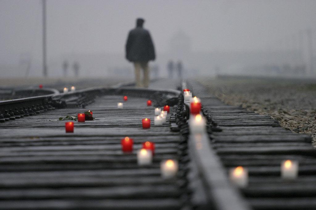 Oswiecim, Poland, - October 24, 2007: Dead Railway in Auschwitz - Birkenau Concentration Camp. Poland