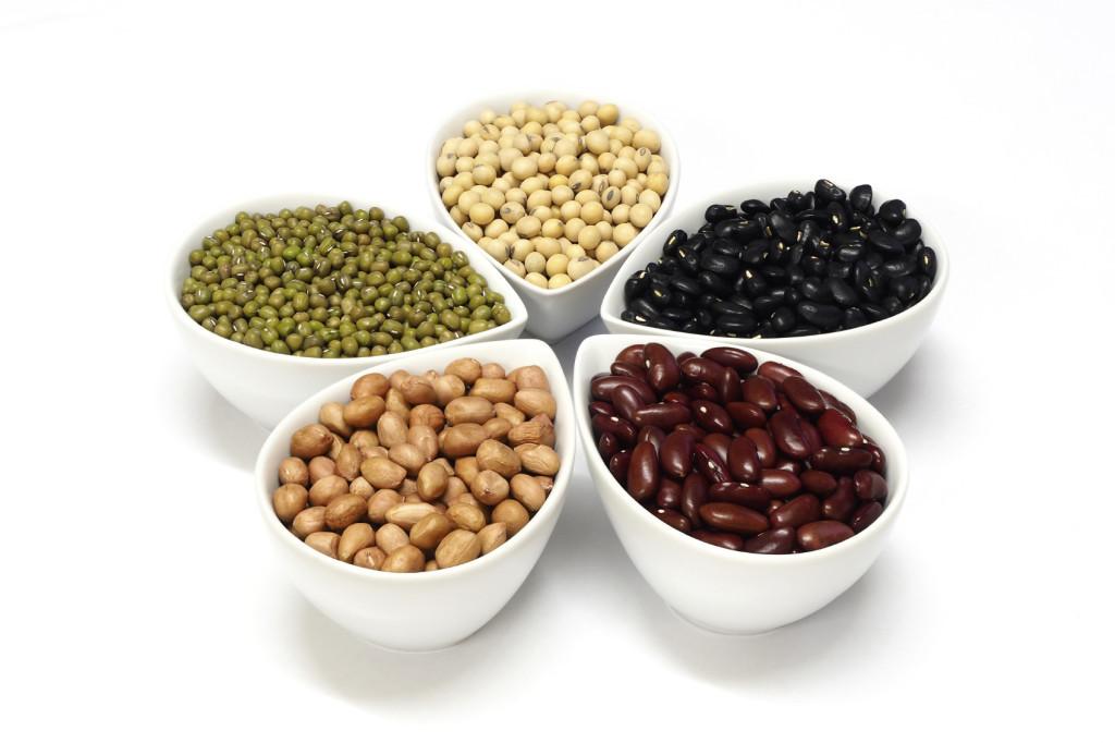 Beans in ceramic cup