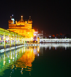 The Golden Temple at night, beautiful in its silence.