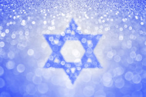 Hanukkah Blue Jewish Star of David Background