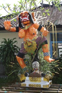 Ogo Ogo in Bali 2012, a larger-than-life float to celebrate the new year holiday of Nyepi