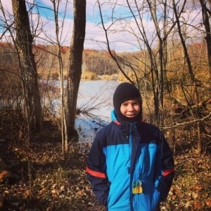 My wonderful son, at the outset of our Shabbat hike