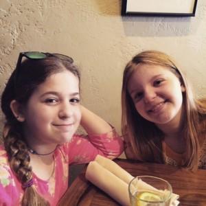 My girls, Eliana and Grace