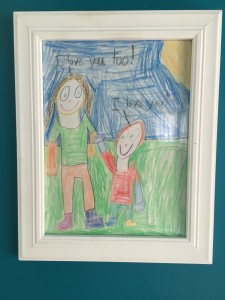 This drawing by my youngest son hangs next to my desk. Every day I see this beautiful illustration of love - and wish that love could prevail all the time, every day, for all of us.