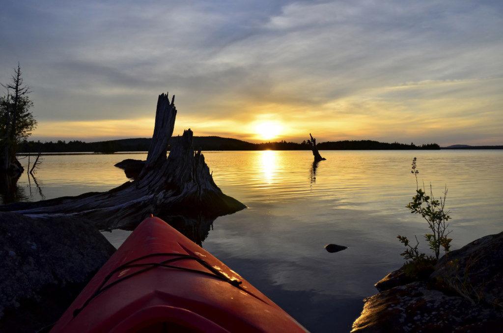 Kayaking-on-Maine-Lake-at-Sunset-000076803119_Medium