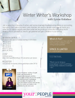 My winter writer's workshop is now open for registration - join us!