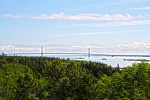 My photo of the Mackinac Bridge from the Upper Peninsula of Michigan last summer.