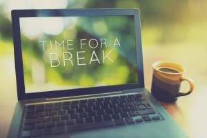 Time for a coffee break vintage editing style