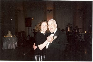Dancing with my grandfather, probably 25 years ago