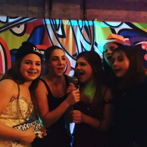 Eliana and friends at her bat mitzvah party