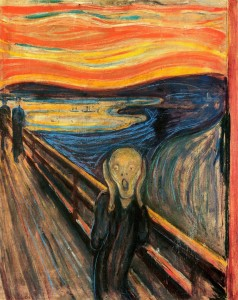 """Edvard Munch's famous painting known as """"The Scream"""""""