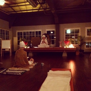 This morning's sadhana at Karma Yoga San Diego