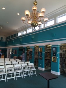 Mackinac Island Public Library - full of color, the color of the lake and the sky. Words leaping off pages. Art arresting my eyes.