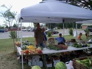 The Grayling, Michigan farmers market. Nice people. Good food.