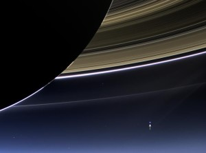 Earth is that pale blue dot in the distant corner of this photo. Think your problems are so huge now?