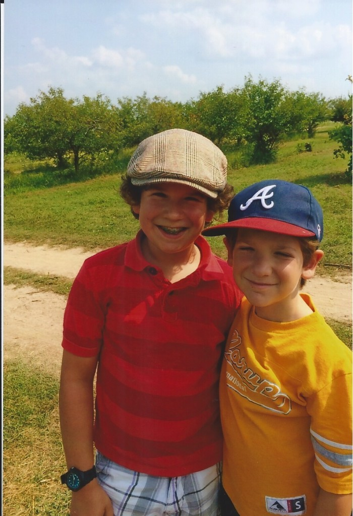 Wearing hats with your little brother in 2014